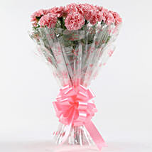 Unending Love-12 Light Pink Carnations Bouquet: Birthday All Gifts