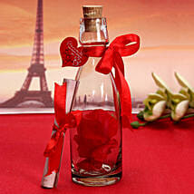 Unique Message In A Bottle: Valentine Personalised Gifts for Girlfriend