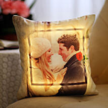 Valentine's Day Special Personalised LED Cushion: Personalised Cushions for Valentine