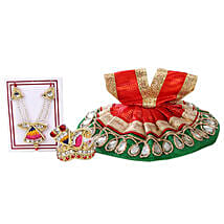 Vibrant Krishna Dress: Spiritual Gifts to Delhi