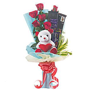 Vivacious Bouquet: Romantic Chocolate Bouquet