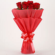 Vivid - Red Roses Bouquet: Lavender Plants