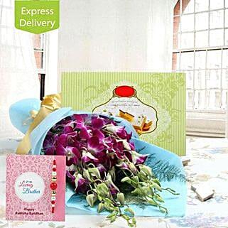 Warm Rakhi Fragrances: Send Rakhi With Sweets to Aurangabad