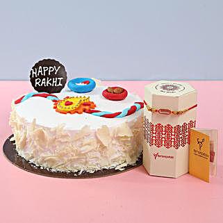White Forest Cake For Rakhi: Raksha Bandhan Cakes