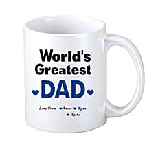 White Personalised Coffee Mug: Fathers Day Mugs