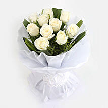 White Roses Bunch: