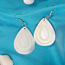 White shell teardrop Dangle Earrings: Jewellery Gifts