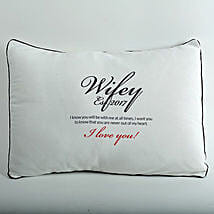 Wifey Love Personalized Cushion: Send Personalised Gifts to Sikar