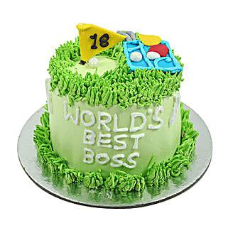 Worlds Best Boss Cake: