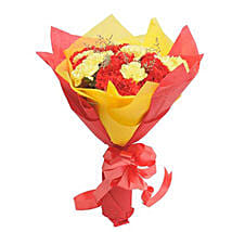 Yellow N Red Carnations: Mothers Day Flowers