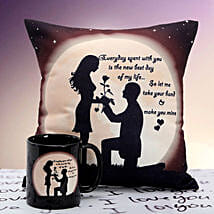 You are Mine Cushion n Mug: Send Gifts to Burhanpur