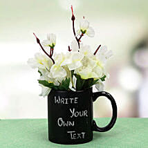Your Words Mug and Plant: Artificial Flowers Gurgaon