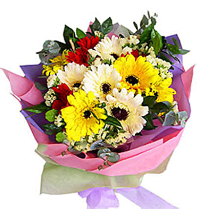 Mix Color Gerberas Bouquet
