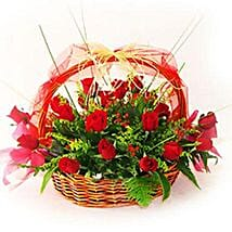 A Basket of Love: Valentine Roses to Malaysia