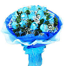 Blue Refreshing Beauty: Send Anniversary Flowers to Malaysia