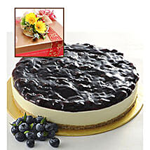 Blueberry Cheesecake With Flowers: Send Birthday Cakes to Malaysia