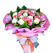 Bouquet Of 2 Dozen Carnations: Congratulations Flowers to Malaysia