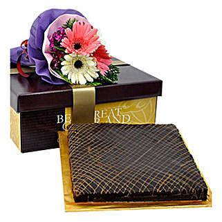 Caramel Brownie Cake: Send Anniversary Cakes to Malaysia