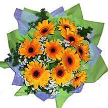 Cheerful Gerberas Bouquet: Send Flower Bouquets to Malaysia