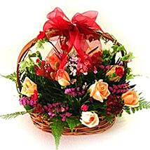 Exceptional Floral Beauty Basket: Valentine Gift Shopping Malaysia