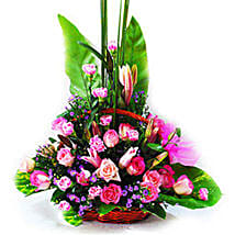 Floral Basket Of Love: Lilies to Malaysia