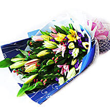 Lovely Lilies Bouquet: Lilies to Malaysia