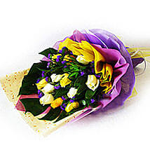 Mixed Happiness Bouquet: Send Anniversary Flowers to Malaysia