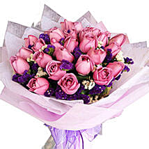 Purple Magic Bouquet: Anniversary Flowers to Malaysia