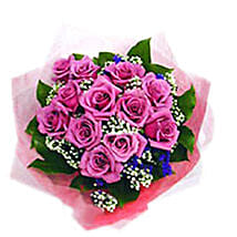 Purple Roses Bouquet: Fathers Day Gifts to Malaysia