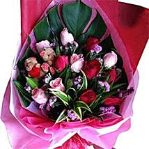 Roses N Teddy Combined: Fathers Day Gifts to Malaysia