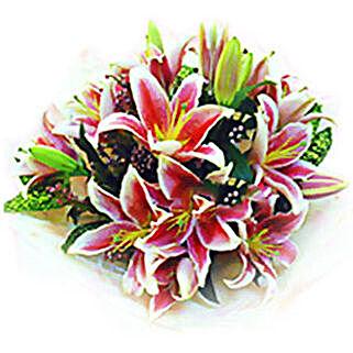 Stargazer Lilies Bouquet: Send Flower Bouquets to Malaysia
