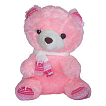 Adorable Pink Teddy Bear: Anniversary Gift Delivery in Mauritius