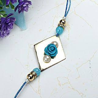 Blue Rose with Pearl Rakhi MOR: