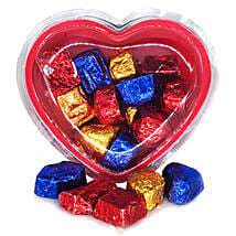 Assorted Chocolates Heart Gift Box 160g: Gifts to Nepal
