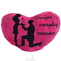 Love You Everyday Romance Valentine Heart Pillow Pink: Send Valentine Gifts to Nepal