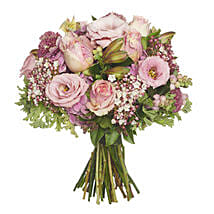 Blushing Pink Bouquet: Valentines Day Roses in NZ