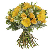 Garden Lemon Posy: Congratulations Flowers to New Zealand