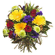 Mixed Colourful Bouquet: Congratulations Flowers to New Zealand