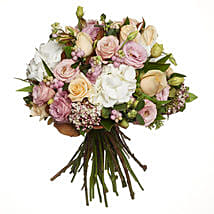 Pastel Flowers Bouquet: Romantic Gifts to New Zealand