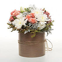 Peach Flowers In Copper Pot: Roses to New Zealand