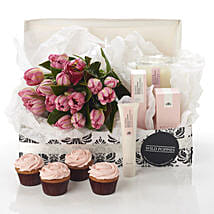 Pink Blush Hamper: Congratulations Flowers to New Zealand