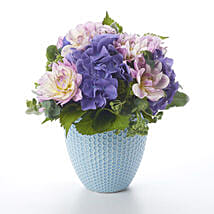 Placid Posy In Tiffany Vase: Romantic Gifts to Nz