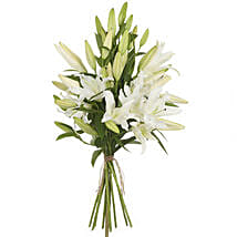 Pristine White Lilies: Wedding Gifts to New Zealand