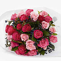 Sassy Pink Roses Bouquet: Mother's Day Gifts to New Zealand