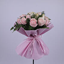 Elegant Bouquet Of Light Pink Roses: Gift Delivery Muscat