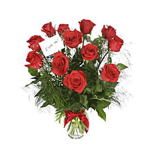 Scarlet Elegance: Valentine's Day Flowers to Oman