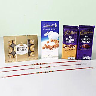 Unique Chocolaty Rakhi Combo: Rakhi Delivery in Oman