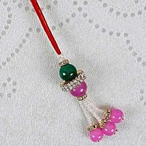 Attractive Pink Lumba Rakhi: Send Rakhi to Pakistan