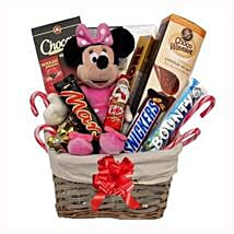 Christmas With Minnie Mouse Gift Basket: Send Gifts to Portugal