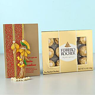 Rocher Rakhi Love For Bhaiya Bhabhi: Bhaiya Bhabhi Rakhi in Qatar